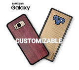 Customizable Wooden Samsung Galaxy Phone Cases in Purpleheart & Curly Maple by WUDN