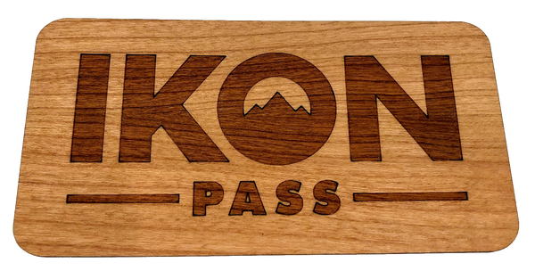 Laser engraved wood sticker for wholesale promotional product industry swag
