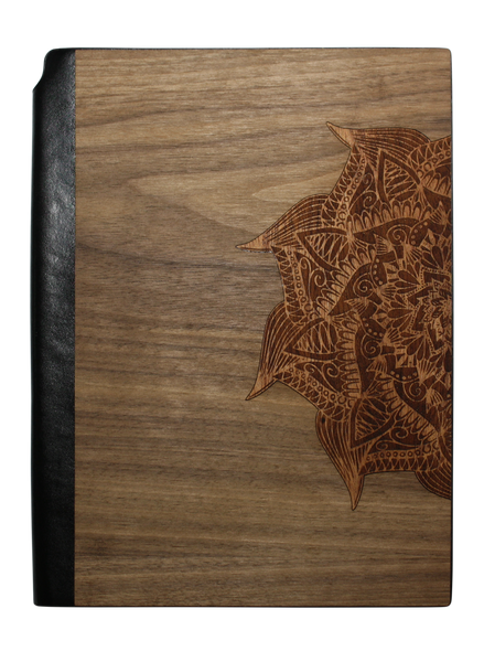 Real wood Journal / Planner - Yoga Mandala