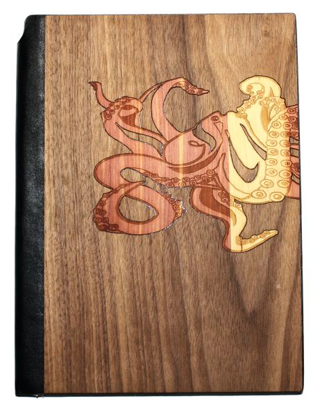 Wooden Journal Planner - Graffiti Octopus by Jake Lindberg
