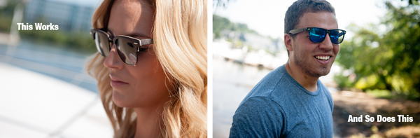 Men and women look equally great in wooden sunglasses