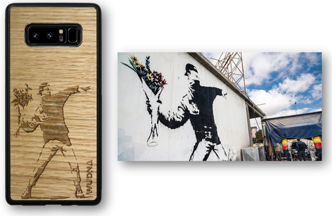 Banksy Molotov Flowers phone case for iPhone & Samsung Galaxy
