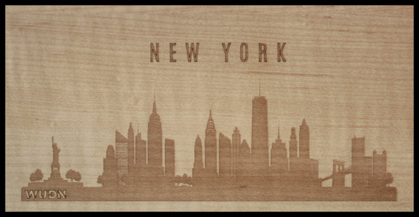 CityScape City Skyline Wooden Phone Case Collection New Yor, NY