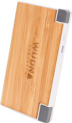 Wooden wooden power bank, USB, Lightning, 4000 mAh, Promotional Product Wholesale Laser Engraved Customized WUDN Swag