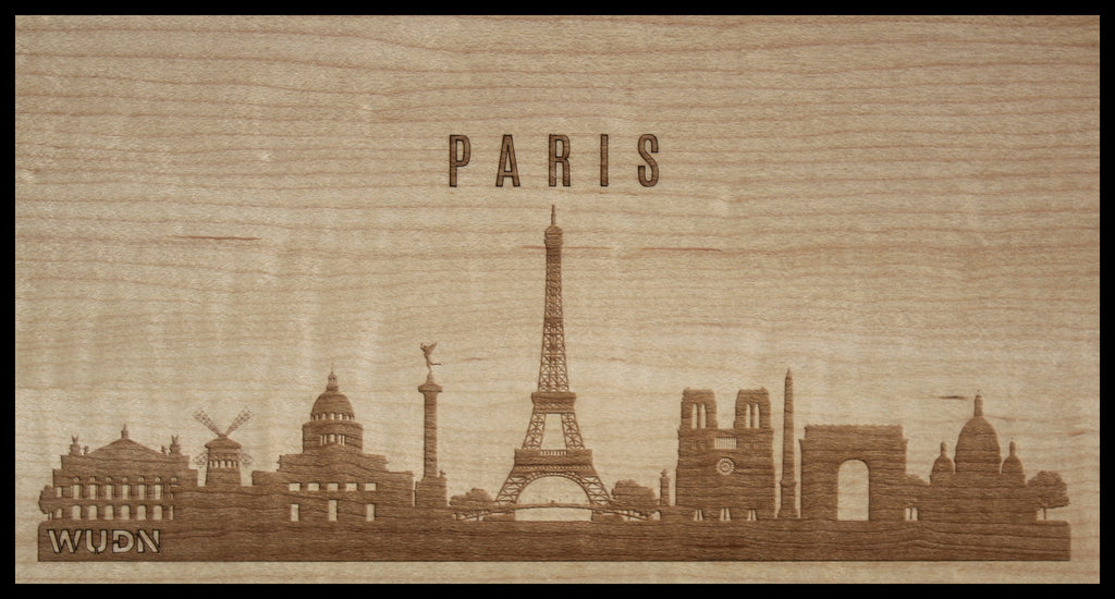 CityScape City Skyline Wooden Phone Case Collection Paris France