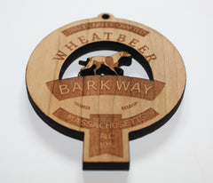 Wooden Pendant Promotional Product Wholesale Laser Engraved Customized WUDN Swag