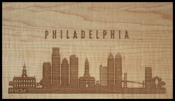 CityScape City Skyline Wooden Phone Case Collection Philadelphia, PA