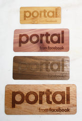 Wooden Stickers Promotional Product Wholesale Laser Engraved Customized WUDN Swag