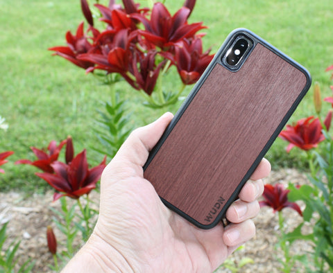 Purpleheart wooden iphone case