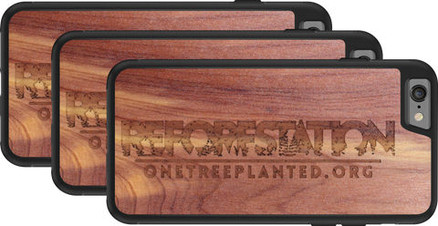 Reforestation limited edition wooden iphone case supporting One Tree Planted