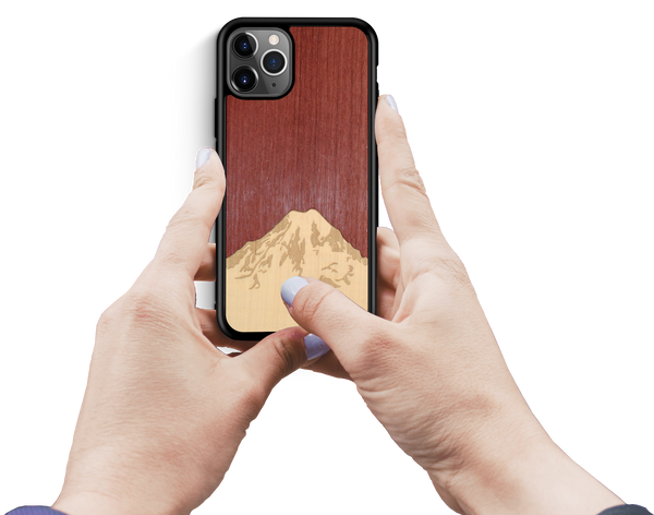 Mt. Rainier Wooden iPhone Case