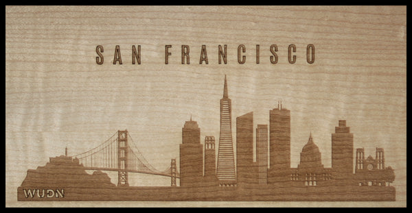 San Francisco California CityScape City Skyline Wooden Phone Case