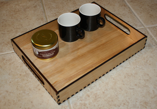 Handmade wood serving tray