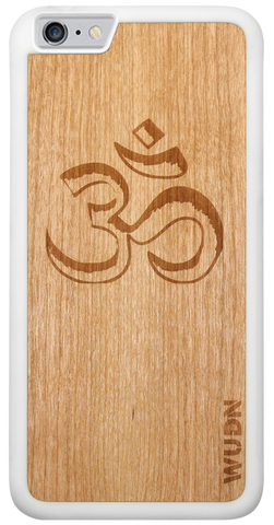 Aum wooden wood phone case for iphone and samsung
