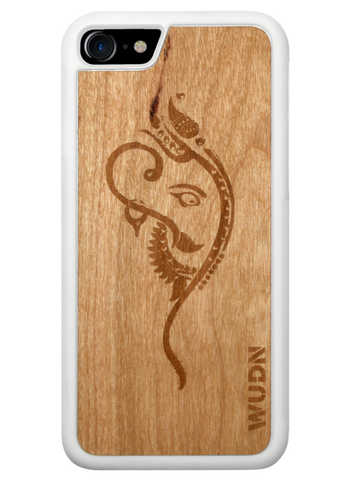 Ganesha yoga wood wooden phone case for iphone and samsung galaxy phones
