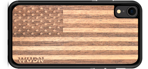 wood, wooden, american flag iphone Xr case