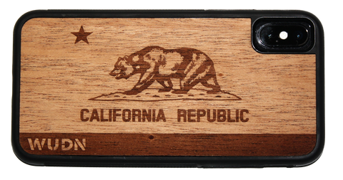 Slim Wood Wooden Phone Case California Republic - iPhone, Samsung Galaxy