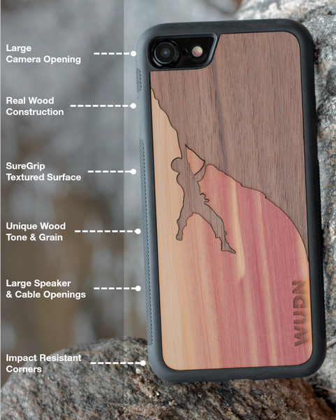 wooden slim case features