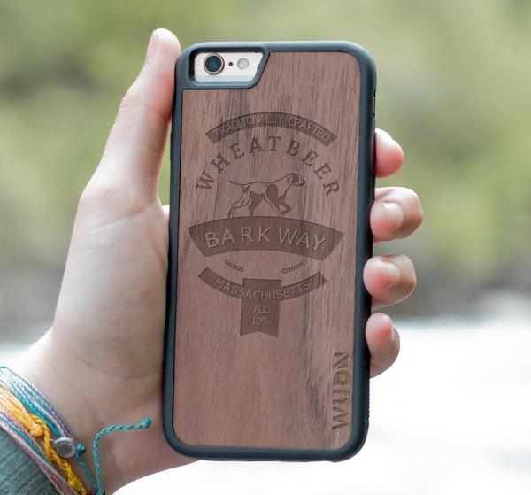 Custom branded laser engraved wood phone case promotional product
