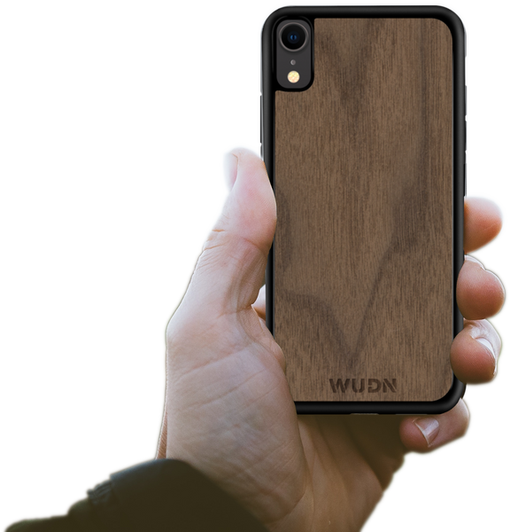 Wooden iPhone Xr case, wood iPhone Xr case, walnut iphone xr case