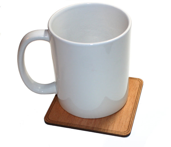 Wooden Coaster on a cup