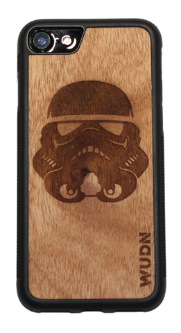 Customize phone case iPhone 7 storm trooper in mahogany