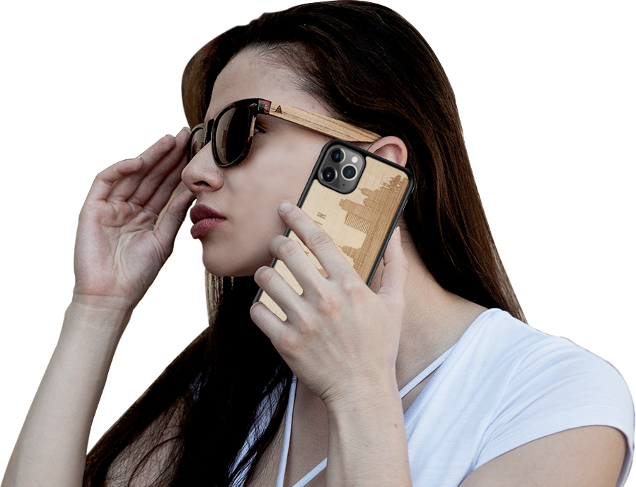 WUDN Phone Cases have Sure Grip textured sides to keep your phone safe