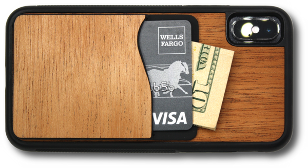 real wood phone wallet