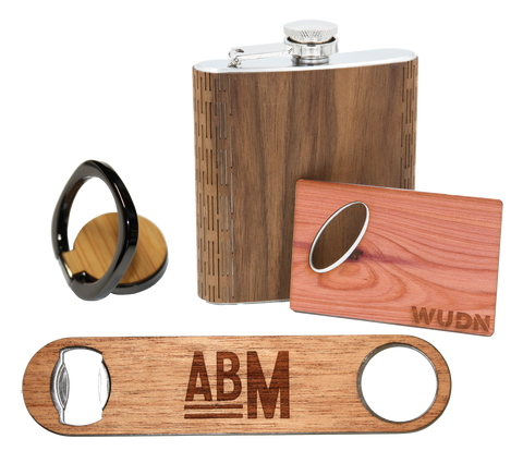 WUDN Wholesale Promotional Distributor Sample Pack of Wooden Promo Products