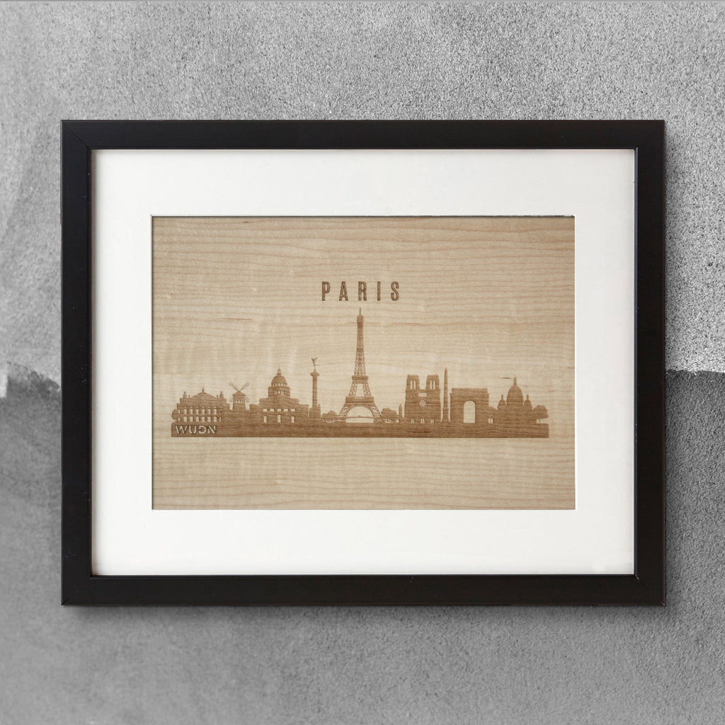 CityScape City Skyline Wooden Wall Art Collection Laser Engraved City Skylines
