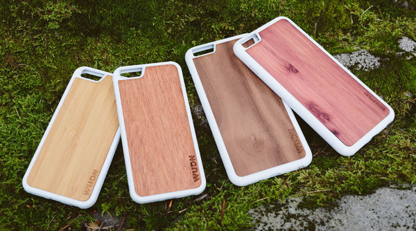 bamboo, mahogany, black walnut, cedar, custom laser engraved wood phone case.