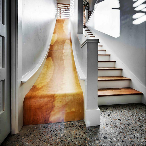 Wood stairs or slide. Seriously, take my money.