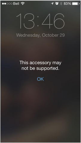 iPhone Accessory May Not Be Supported Error, ios 11, ios 12, battery case won't charge, iphone charging problems