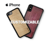 Customizable Wooden iPhone Cases in Purpleheart & Curly Maple by WUDN