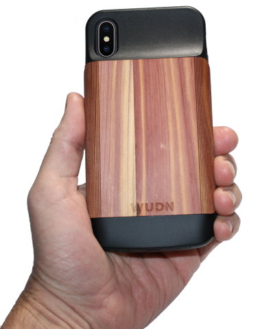 WUDN Wood wooden iPhone X Battery Case