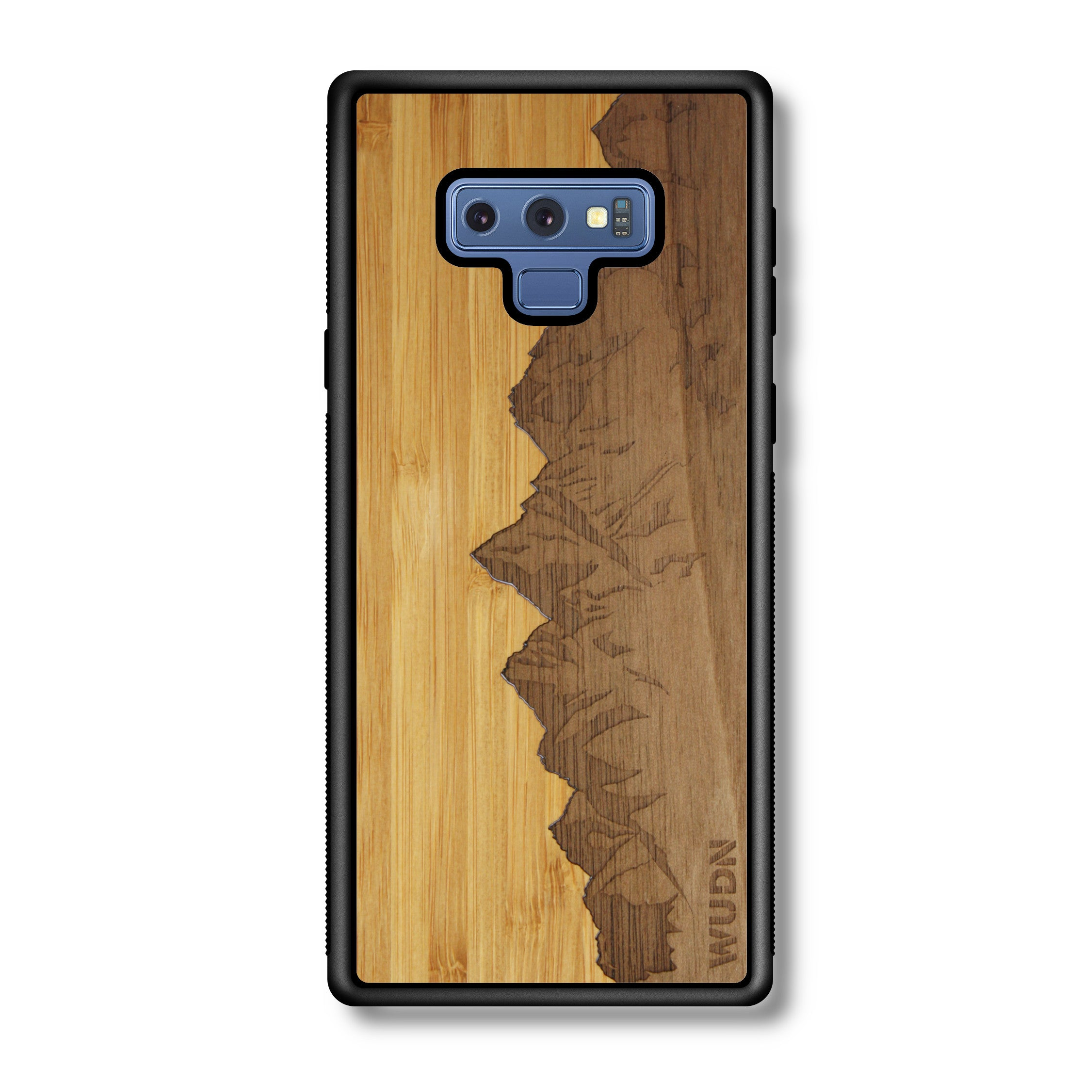 Slim Wooden Phone Case | Sawtooth Mountains Traveler, Cases by WUDN for Galaxy Note 9