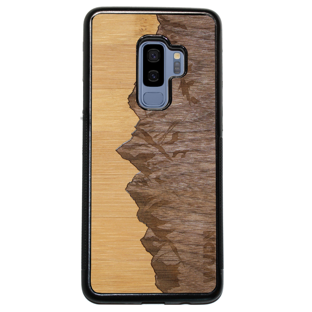 Slim Wooden Phone Case | Sawtooth Mountains Traveler, Cases by WUDN for Galaxy S9 Plus