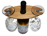 Wooden Wine Glass Caddy - Two Glass, Bar - WUDN