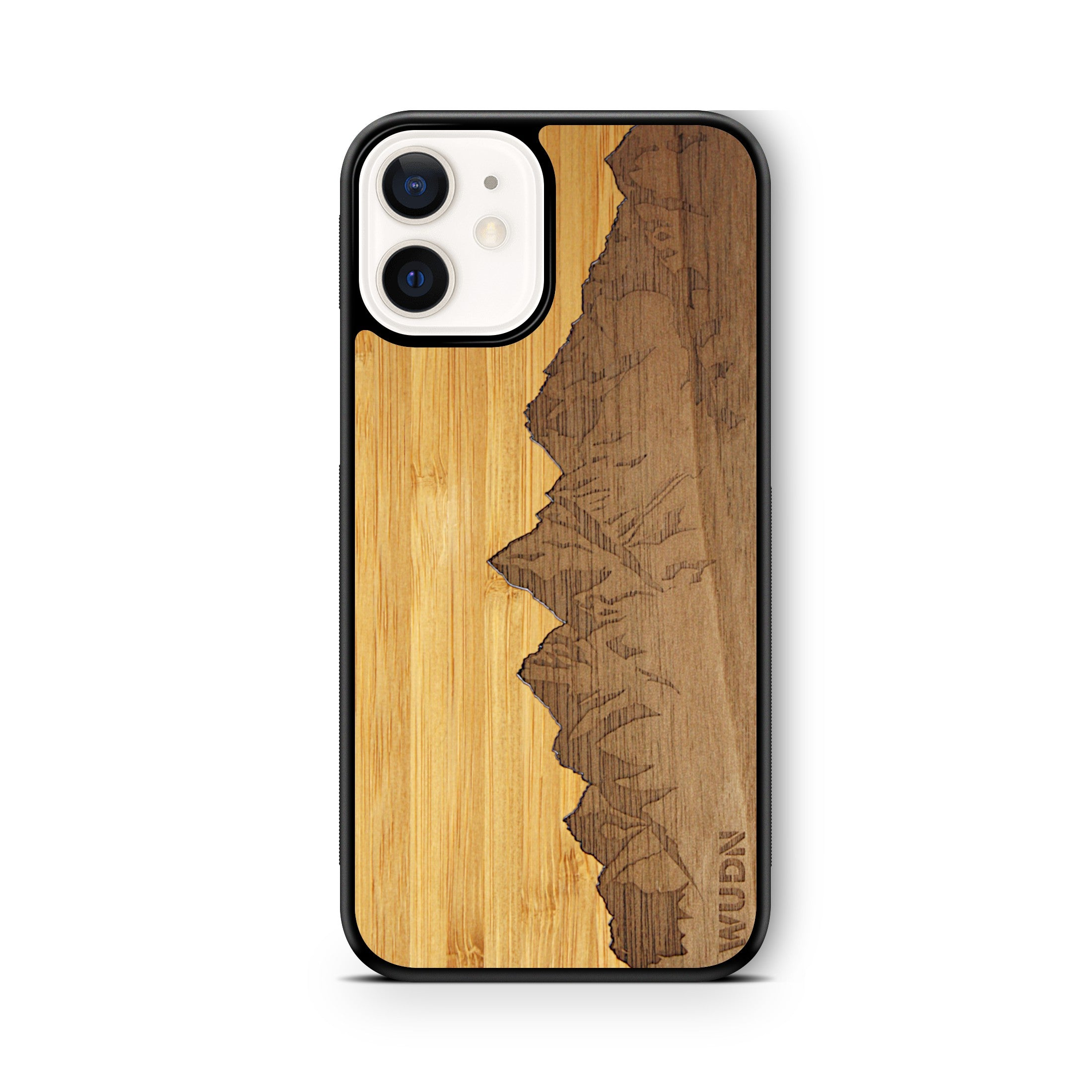 "Slim Wooden Phone Case | Sawtooth Mountains Traveler, Cases by WUDN for iPhone 12 (6.1"")"