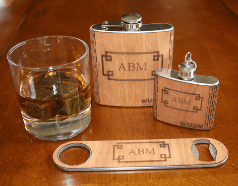 Customizable Monogrammed, Bar Accessory Gift Set, Customizable - WUDN