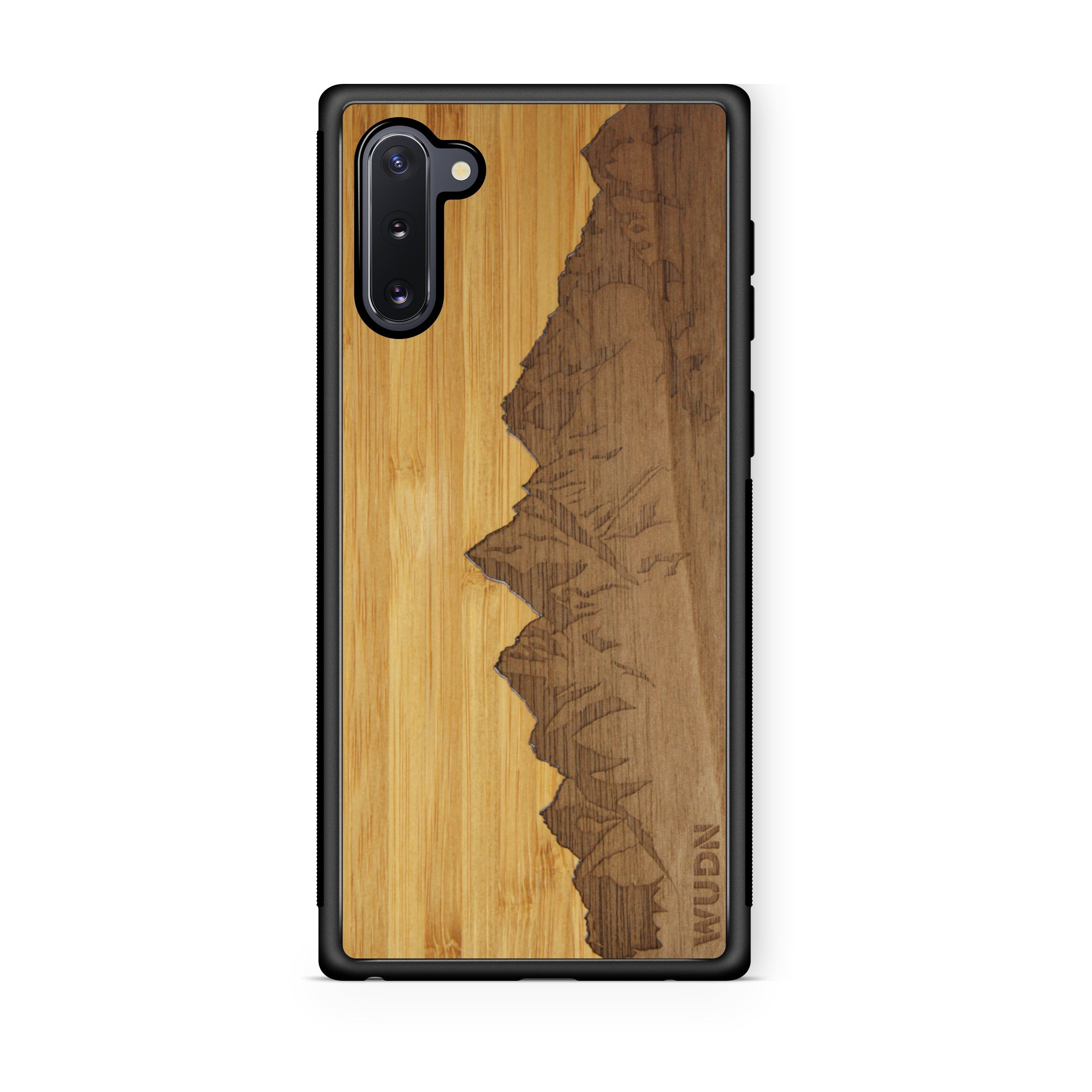Slim Wooden Phone Case | Sawtooth Mountains Traveler, Cases by WUDN for Galaxy Note 10