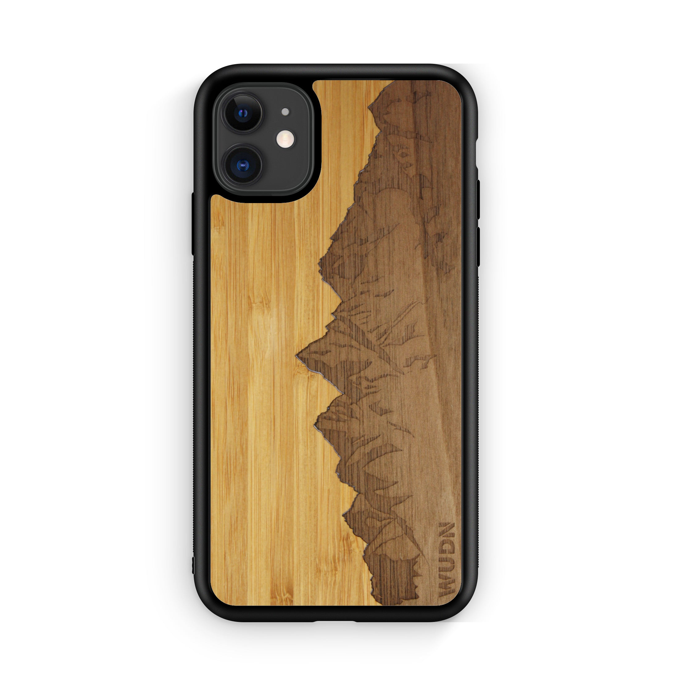 "Slim Wooden Phone Case | Sawtooth Mountains Traveler, Cases by WUDN for iPhone 11 (6.1"")"