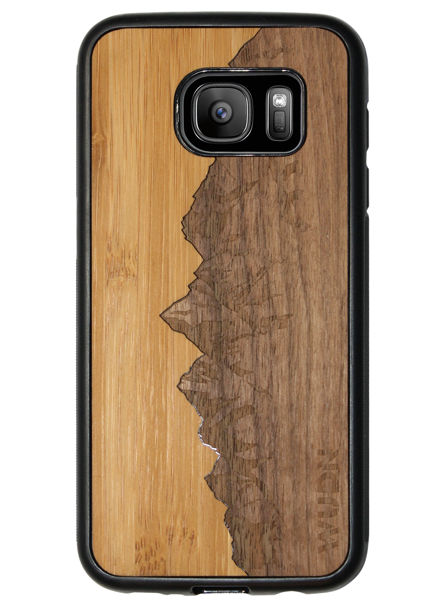 Slim Wooden Phone Case | Sawtooth Mountains Traveler, Cases by WUDN for Galaxy S7