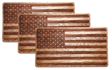 Wooden American Flag Sticker