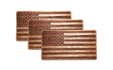 Wooden American Flag Sticker, Accessories - WUDN