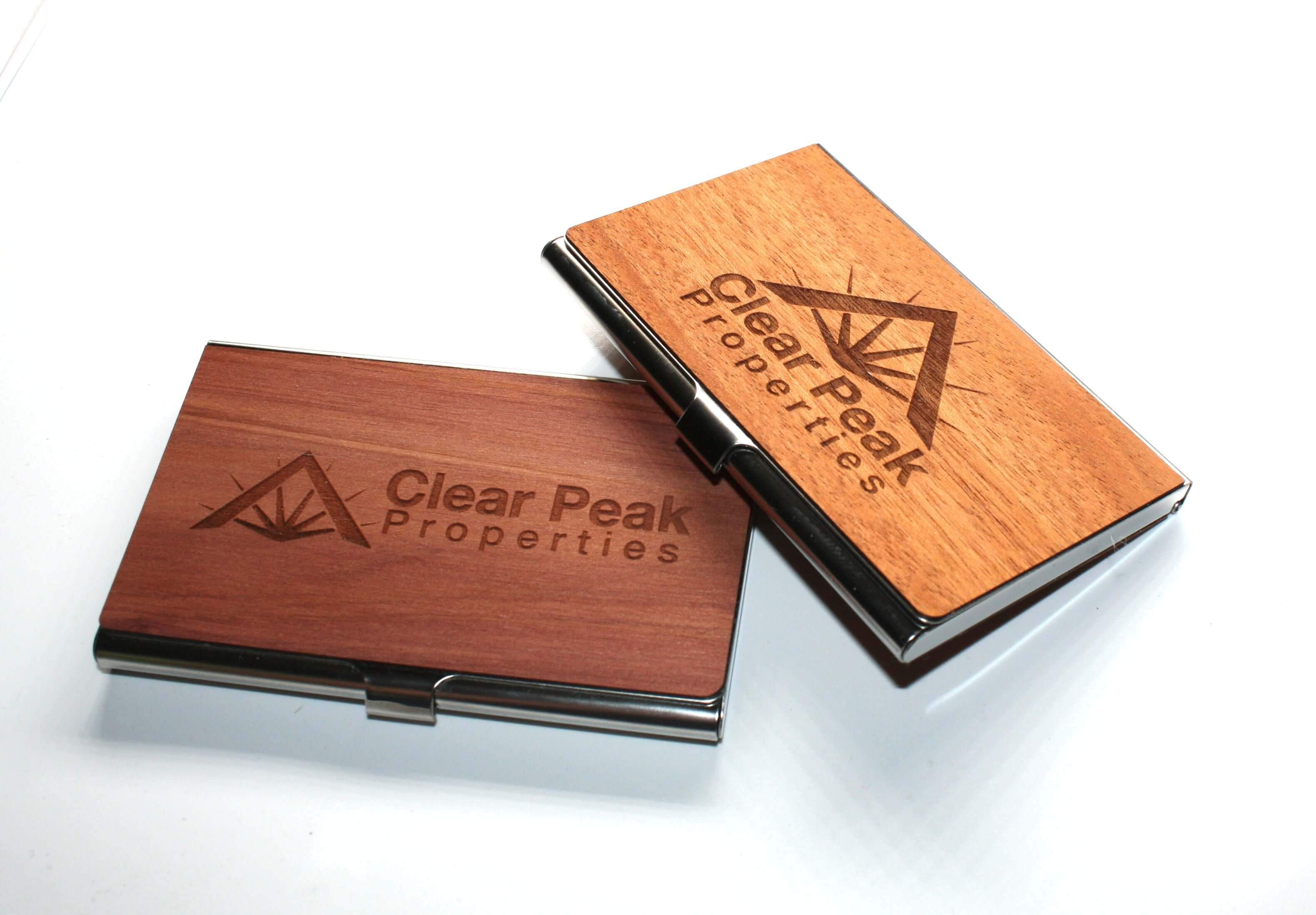 Customizable Wooden Business Card Holder, Home and Office - WUDN