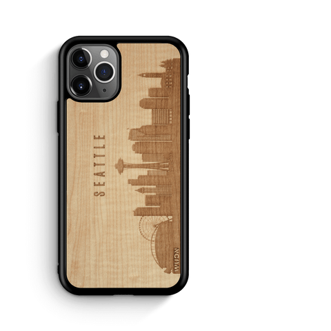 CityScape Wooden Phone Case | Seattle WA, Cases - WUDN