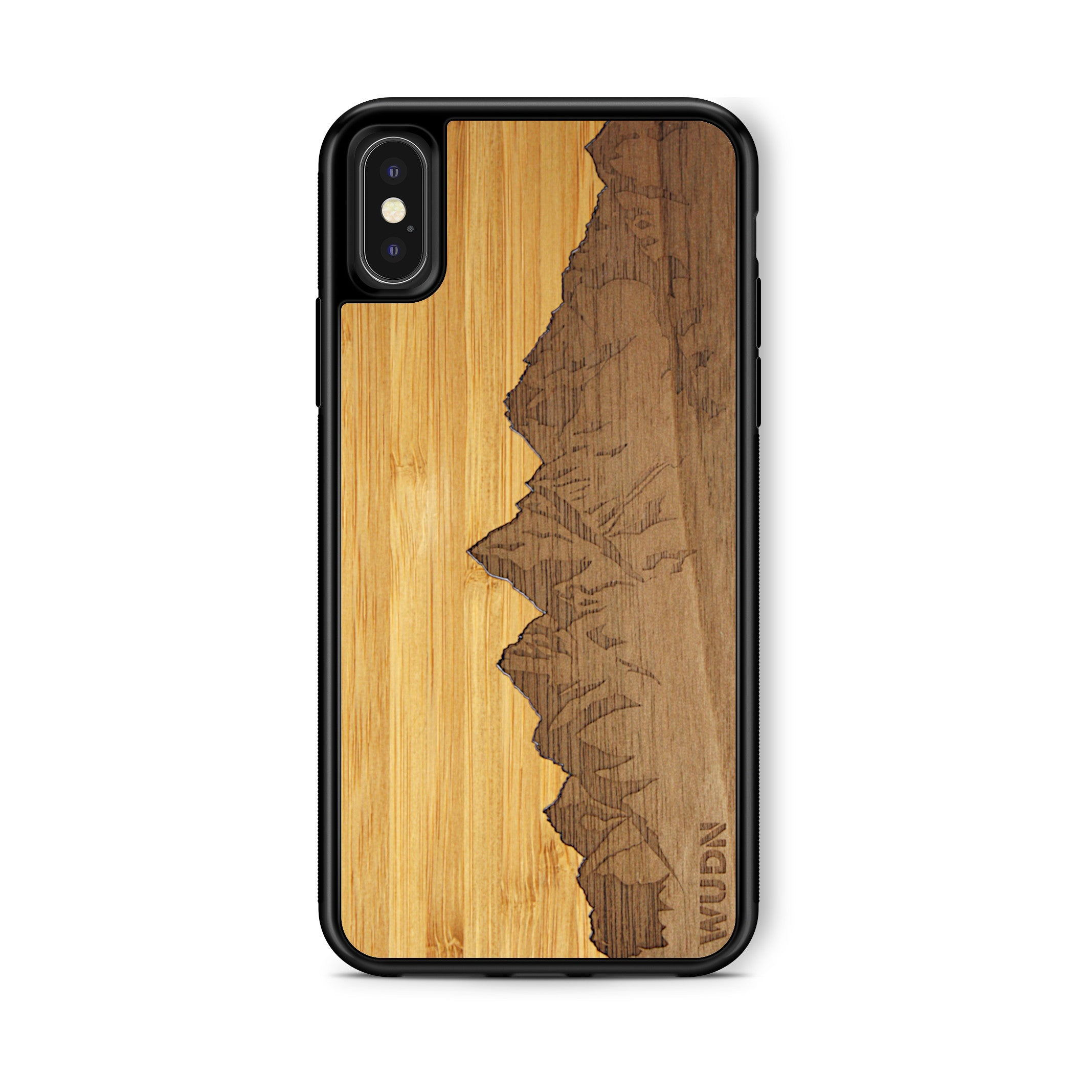 Slim Wooden Phone Case | Sawtooth Mountains Traveler, Cases by WUDN for iPhone X / Xs