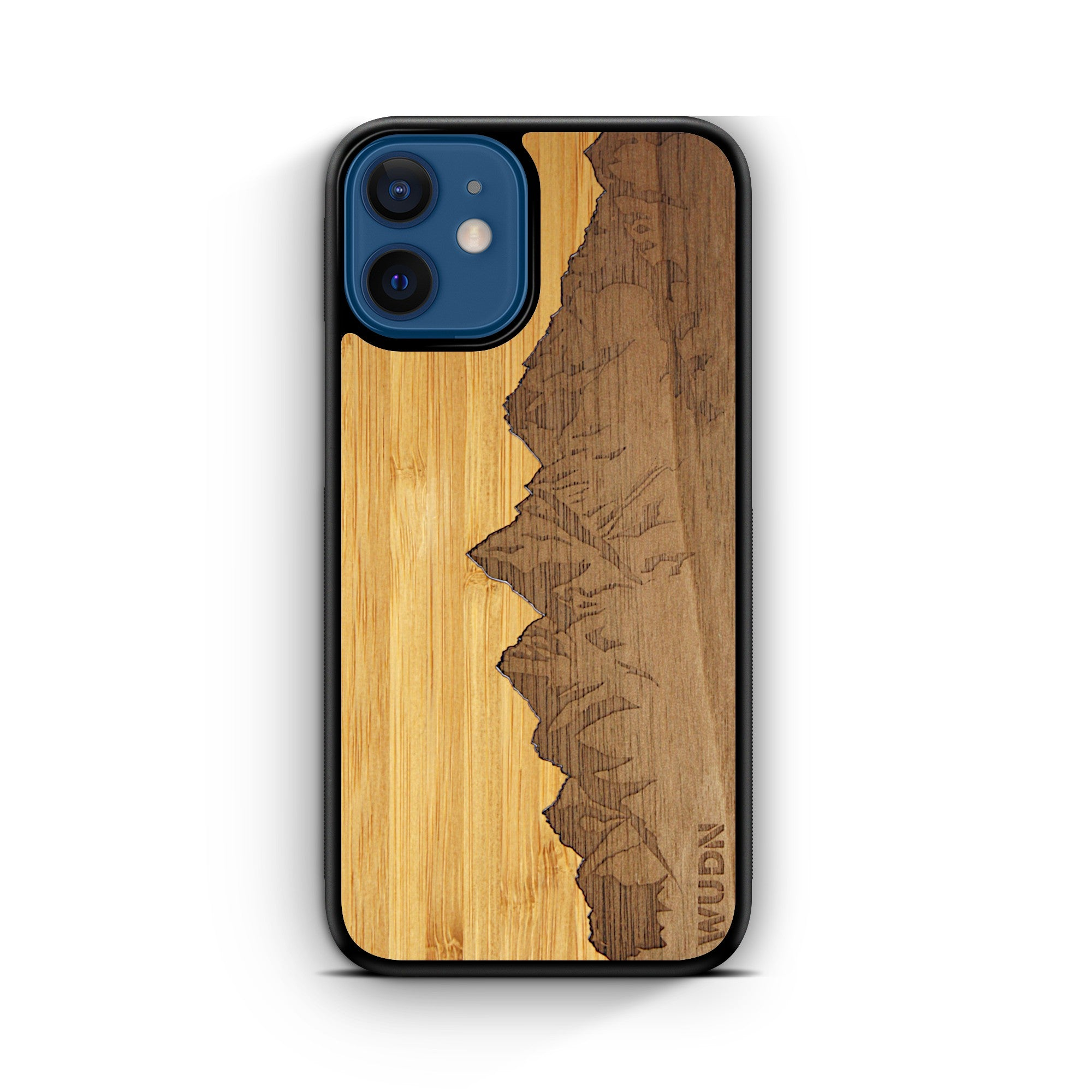 "Slim Wooden Phone Case | Sawtooth Mountains Traveler, Cases by WUDN for iPhone 12 Mini (5.4"")"