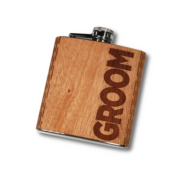 Wedding Party Hip Flasks 6 oz.